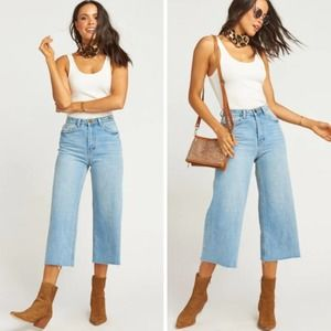 NEW Show Me Your Mumu Indio Cropped Wide Leg Jeans